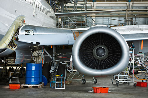 Aircraft engines and wings require ultrasonic testing to ensure safe operation
